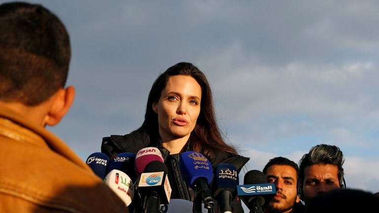 It was Jolie's first visit to jordan