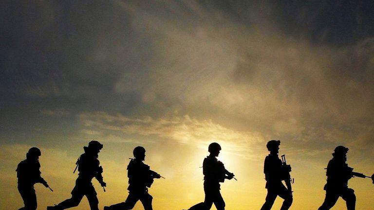 British troops in Iraq.
