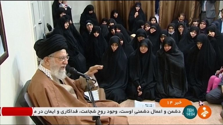 Ayatollah Ali Khamenei blamed 'enemies of Iran' for stirring up the protests