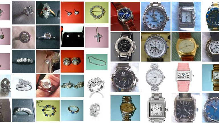 Items stolen after series of armed raids on prosperous homes in the Home Counties