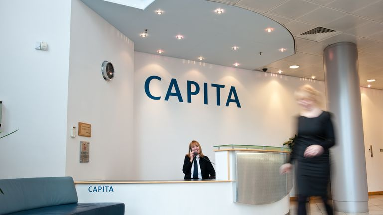 Capita was demoted from the FTSE 100 in March 2017 following a string of profit warnings. Pic: Capita