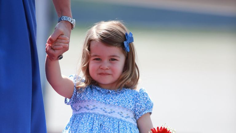Princess Charlotte, who will attend Willcocks Nursery School