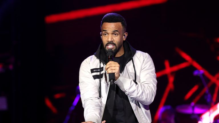 Craig David performs on stage during day one of Capital's Jingle Bell Bal
