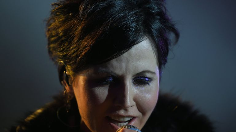 Irish singer Dolores O'Riordan of Irish band The Cranberries performs on stage during the 23th edition of the Cognac Blues Passion festival in Cognac on July 07, 2016