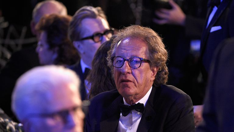 LOS ANGELES, CA - JANUARY 21: Actor Geoffrey Rush during the 24th Annual Screen Actors Guild Awards at The Shrine Auditorium on January 21, 2018 in Los Angeles, California. (Photo by Kevork Djansezian/Getty Images)