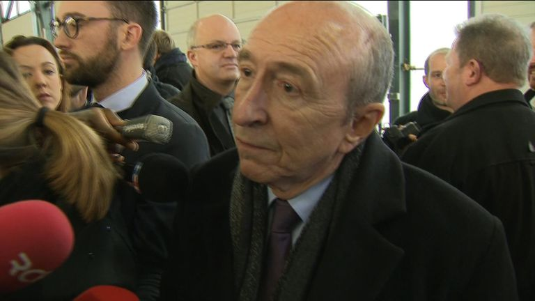 France's interior minister Gerard Collomb