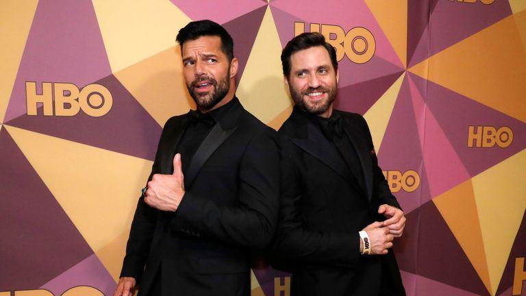 Ricky Martin (L) and Edgar Ramirez