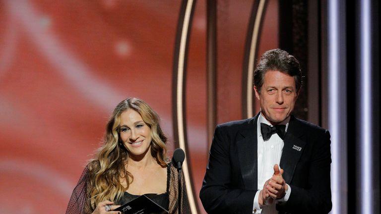 Presenters Sarah Jessica Parker and Hugh Grant