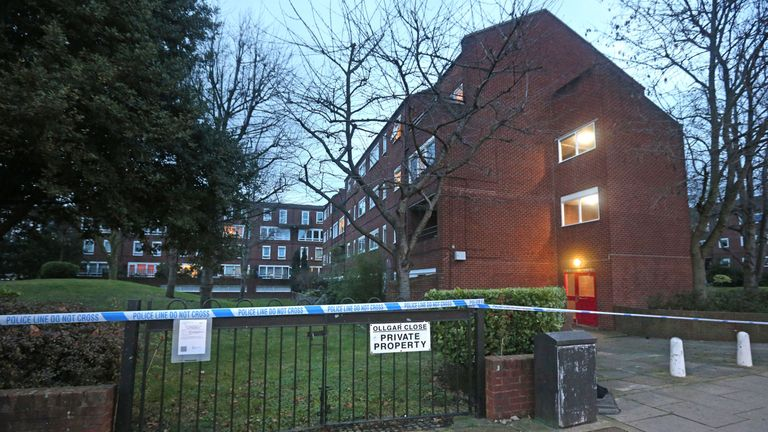 One of the entrances to Ollgar Close in Shepherd's Bush