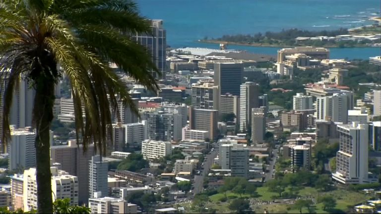 Honolulu, the capital of Hawaii