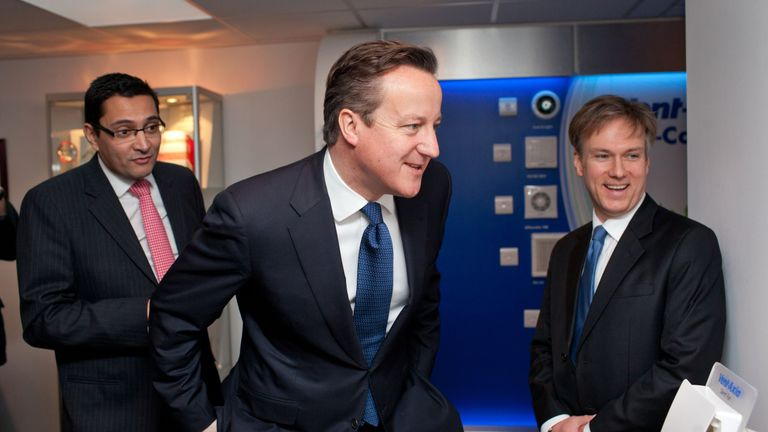 Henry Smith, here with David Cameron, is passionate as he lost his mother to blood cancer