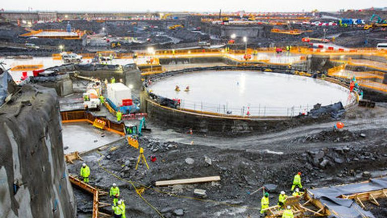Hinkley Point C is due to start generating power in 2015. Pic: EDF