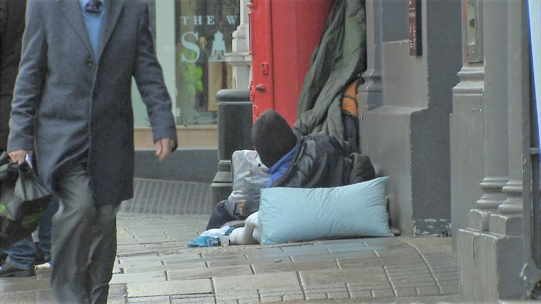 Rough sleeper in Windsor