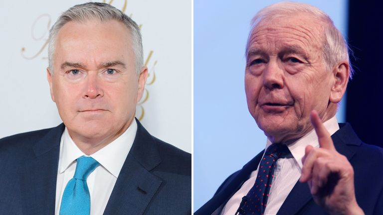 Huw Edwards and John Humphrys