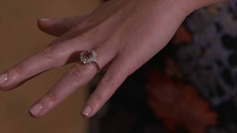 The princess shows off her engagement ring
