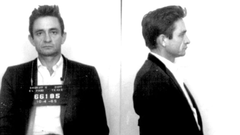 Johnny Cash mugshot