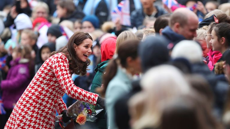 Kate proved popular with the crowds in Stockholm
