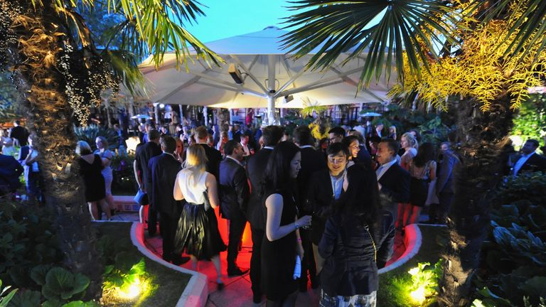 Atmosphere at the annual WTA Pre-Wimbledon Party presented by Dubai Duty Free, as guests enjoyed Croc Vodka, at The Roof Gardens, Kensington on June 25, 2015 on June 25, 2015 in London, England