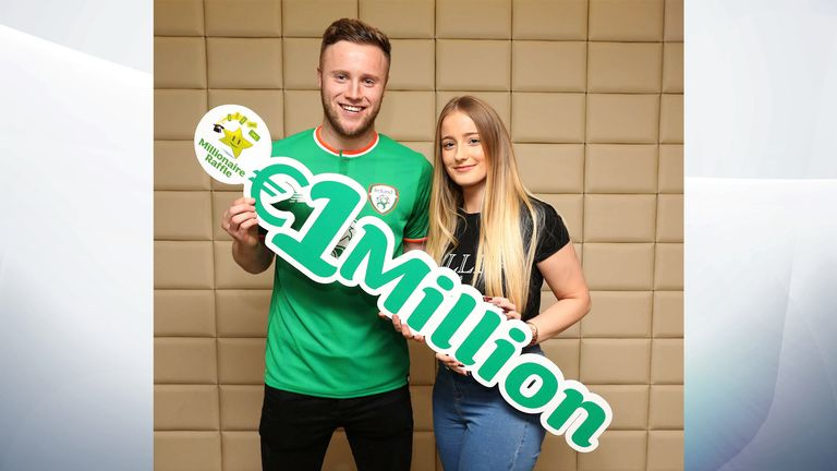 Mr O'Connor with his girlfriend, Chloe O'Leary