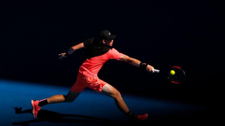 Edmund had never reached a Grand Slam quarter-final before