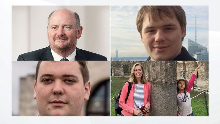 Richard Cousins, Will Cousins, Ed Cousins, Emma and Heather Bowden