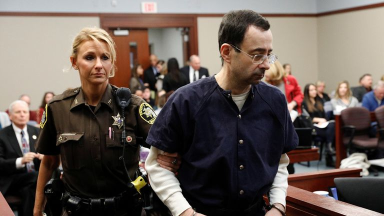 Nassar returns to court after a break in victim statements