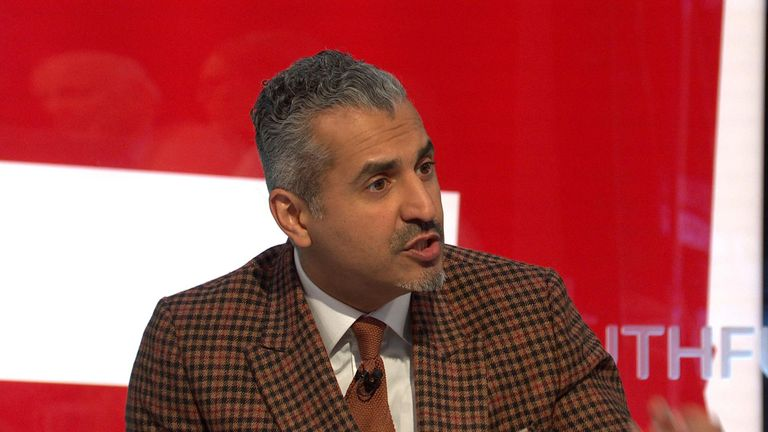 Many of the historical greats were flawed, The Pledge's Maajid Nawaz says