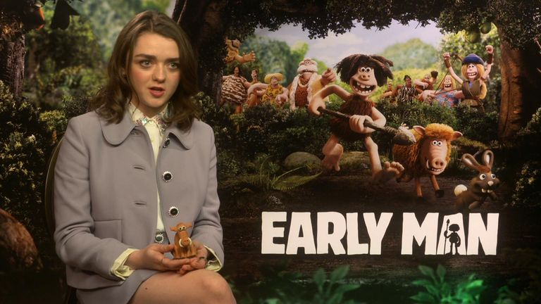 Maisie Williams plays Goona in Early Man