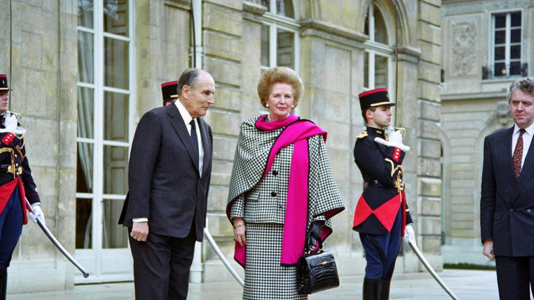 Margaret Thatcher was well known for her handbags (pictured in 1990 in Paris)
