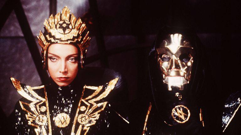 Mariangela Melato and Peter Wyngarde in Flash Gordon