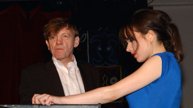 Mark E Smith and his wife Elena Poulou - again at the Hammersmith Palais