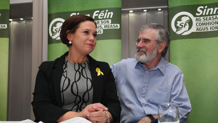 Mary Lou McDonald and Gerry Adams