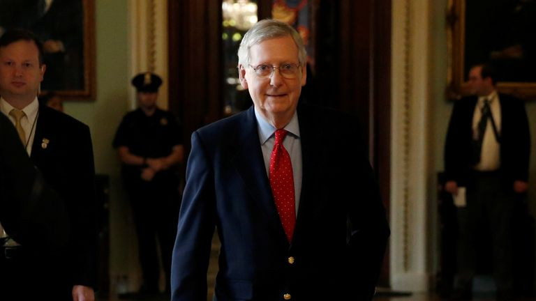 Mitch McConnell has set a vote for Monday