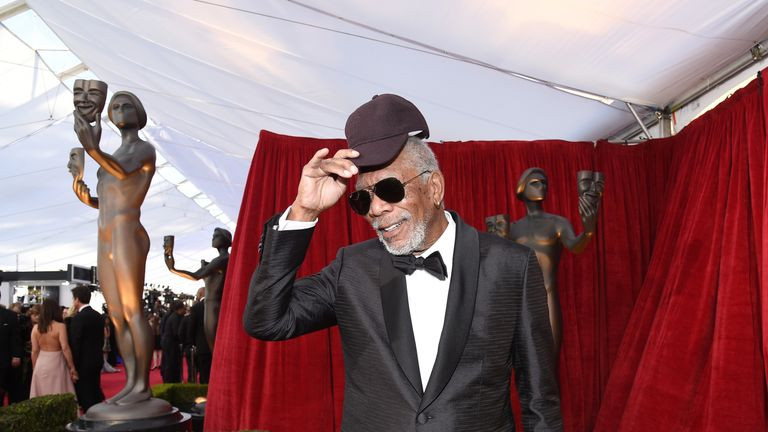 LOS ANGELES, CA - JANUARY 21: Honoree Morgan Freeman attends the 24th Annual Screen Actors Guild Awards at The Shrine Auditorium on January 21, 2018 in Los Angeles, California. (Photo by Kevork Djansezian/Getty Images)