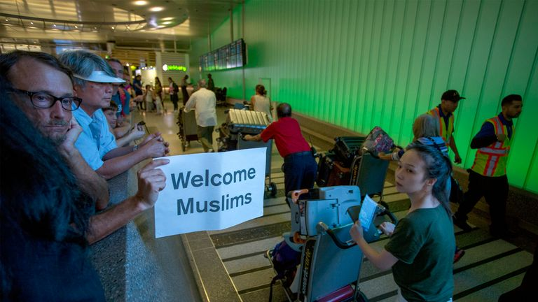 The President's ban on people from some Muslim countries has been held up in the courts