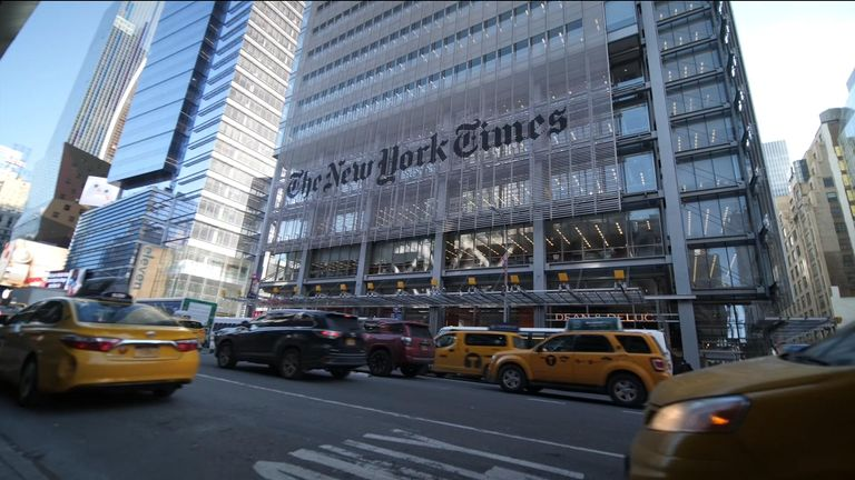 The New York Times building in Manhatten