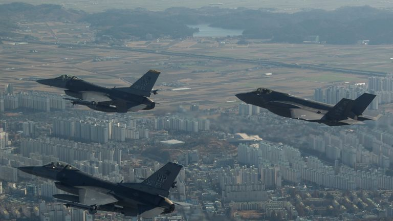 US Forces are working with South Korean forces in the South