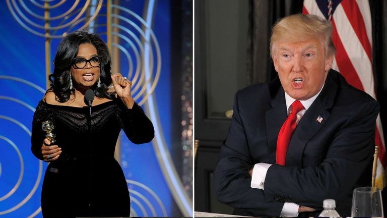 Donald Trump said he does not think Oprah Winfrey will run for president