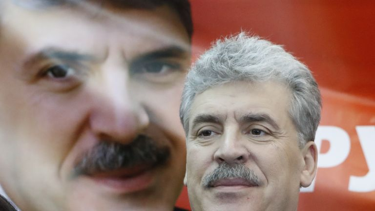 Pavel Grudinin, the Russian Communist Party's candidate in the country's presidential election