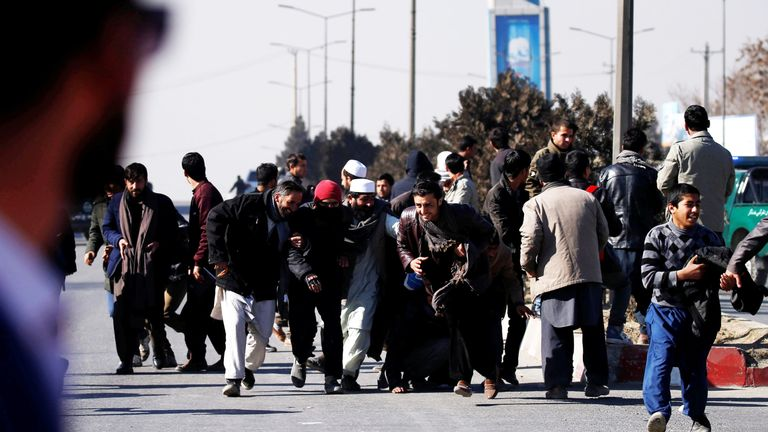 People flee the scene of the attack