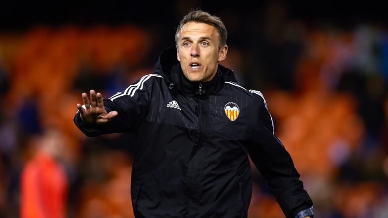 Phil Neville was a coach at Valencia
