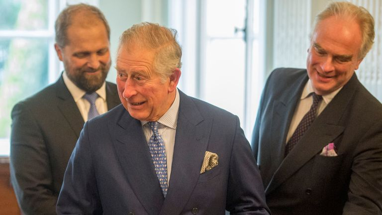 The Prince of Wales attended the meeting to speak on plastic pollution