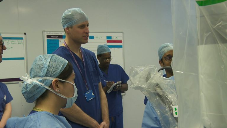 Prince William at the Royal Marsden Hospital