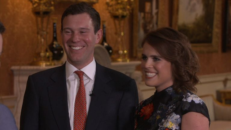 Princess Eugenie Jack Brooksbank talk about their engagement