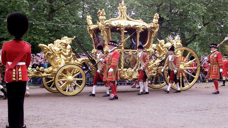 The Queen's gold state coach