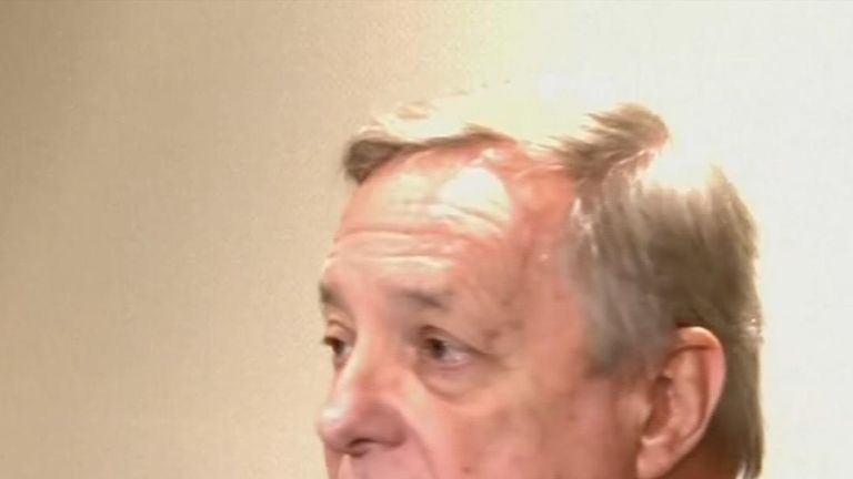 Senator Dick Durbin said Mr Trump had made the remarks he is accused of