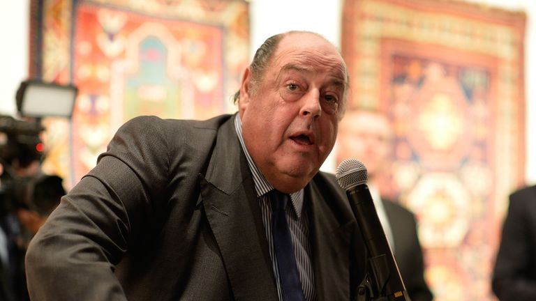 LONDON, ENGLAND - OCTOBER 29: Sir Nicholas Soames attends the Prince Albert II of Monaco Foundation Dinner In Honour Of Winston Churchill at Sotheby's on October 29, 2015 in London, England. (Photo by Pascal Le Segretain/Getty Images)
