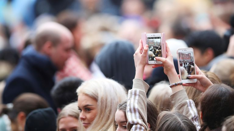 Huge crowds turned out to catch a glimpse of the British Royals