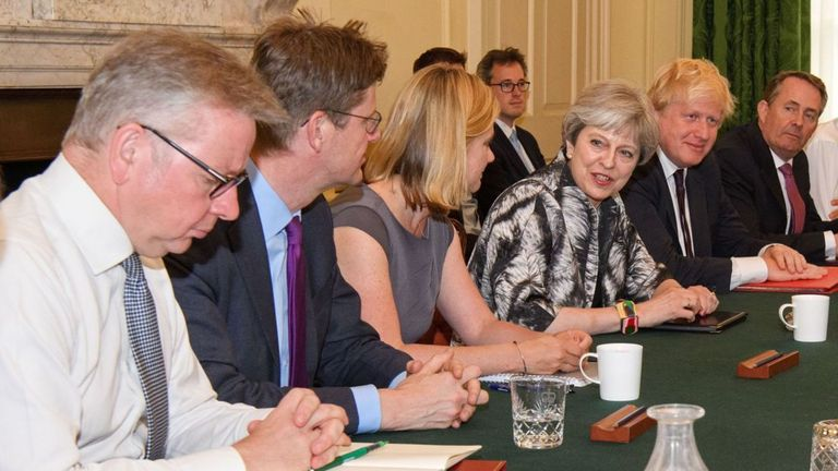 The PM is expected to announce Cabinet changes on Monday as she seeks to balance the Tories' pro-Brexit and Remain factions.
