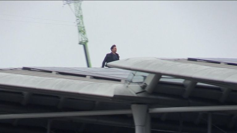 Tom Cruise shoots film in London